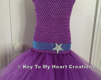 Barbie Keira inspired tutu costume..lined top...Barbie popstar