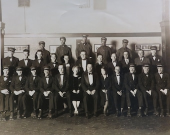Original 1920's Chicago White City Amusement Park 8 x 10 Employee Group Photo - African American Black Staff - Roller Skates - Free Shipping