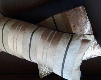 Black and Brown cotton RECTANGLE cushion