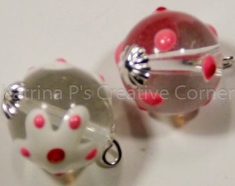 Glass and Epoxy Multicolored Beads