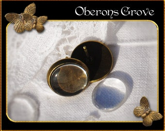 10 cabochon earstuds bronze with 10mm glass cabochons