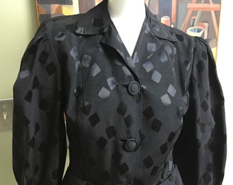 Outstanding Vintage 1940s Hollywood Starlet Blouse/Jacket