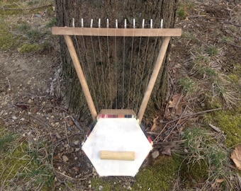 Artemisia Lyre- Handmade Eleven string Recycled Material Harp