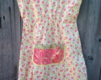 Size 5 toddler farmhouse dress pockets floral