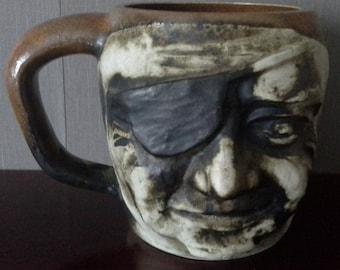 novety one eyed pirate mug