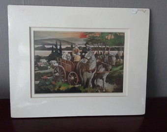 Chemainus 1891 unframed picture print
