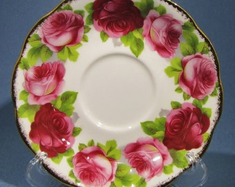 ROYAL ALBERT Old ENGLISH Rose Tea Cup Saucer, Pink Rose Tea Cup Saucer, English Bone China Saucer Only