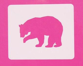 Bear Stencil, Mylar Bear Stencil, Reusable Stencil, Painting Stencil, Crafting Stencil, Stenciling Supplies, Template