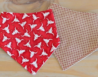Bandana dribble bib set of 2