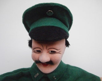 Vintage Hand Puppet Police Officer,Policeman Glove Friends Steiff Kersa,Highly Collectible,Hard to Find,Early 70s
