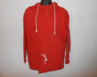 Vintage CK Calvin Klein Sport Orange Hoodie Hooded Sweatshirt Fits L/XL
