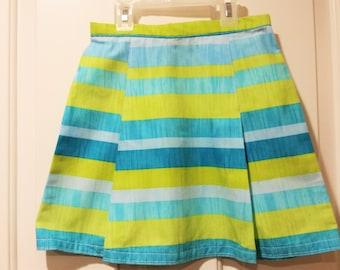 Bright Box Pleat Skirt