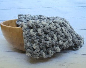 ready to ship chunky basket filler blanket newborn grey  knit blanket photo prop