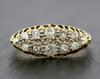 Antique Diamond Ring - Victorian Diamond Ring in 18ct Gold - Antique Anniversary Ring