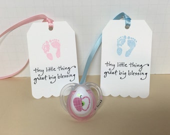 Baby shower favor, Baby shower tag, Favor tags, 12, Baby girl, Baby boy, Baby shower gift tag, Baby footprints, Baby favor
