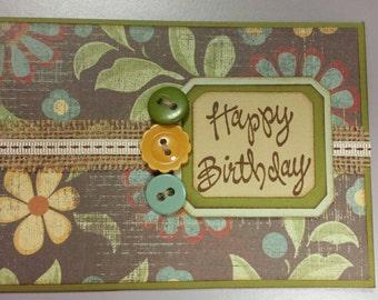 Rustic birthday card