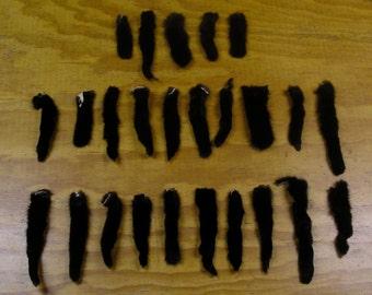 25 Black Mink Tails