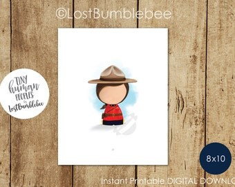 Girl Canadian Mountie, Downloadable Art by LostBumblebee