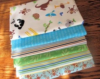 Zoofari one yard each Riley Blake Designs Bundle of 6 fabrics