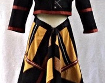 Womens one of a kind wrap skirt and jacket