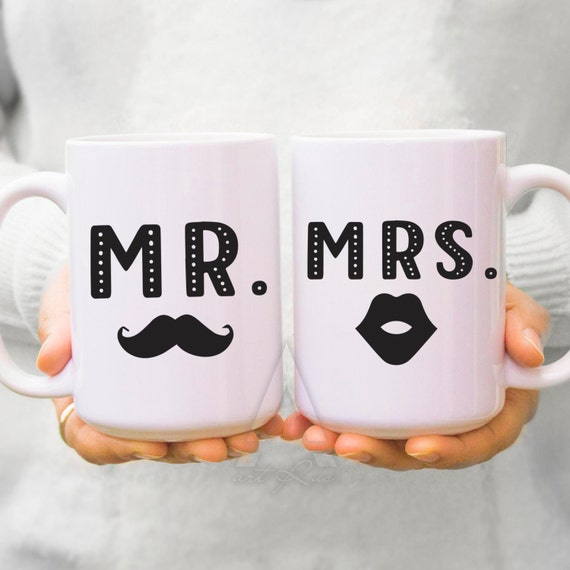 Wedding Gift Mugs Suggestions : wedding gift ideas, engagement gifts, couple mugs, mr and mrs cups ...