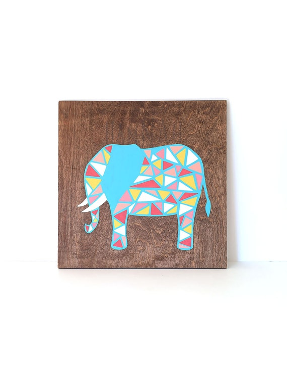 Elephant Art Tribal Nursery Decor Modern Nursery Art