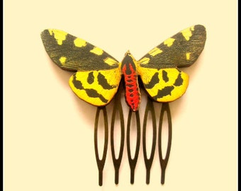 Wooden Butterfly Hair Comb