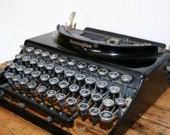 Antique portable Remington typewriter