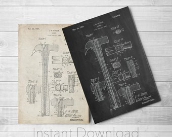 Hammer Printables, Tool Art, Unique Gifts for Dad, Garage Decor, Tool Poster, PP0275