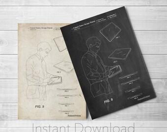 Apple iPad Printables, Apple Art, Steve Jobs, Macintosh, Technology Art, PP0614