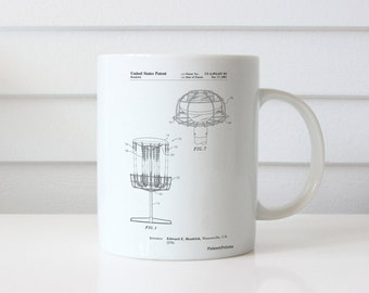 Disc Golf Basket Patent Mug, Frisbee Golf, College Student Gift, Unique Gift Idea, PP0782