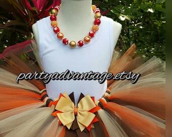 Handmade tutu, orange, Brown and ivory tutu, girl tutu,  princess tutu skirt, birthday tutu, wedding tutu, pageant, photo shoot