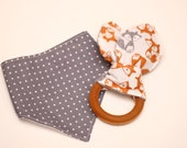 Infant Bib + Organic Teether