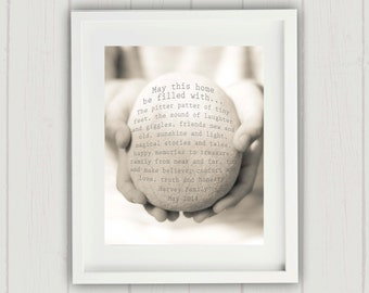 Personalized Housewarming Gift, New Home Gift, Personalized New Home Gift, House Blessing Print, Family Name Print, New Home Print, New Home
