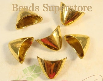 SALE 20 mm x 11 mm Antique Gold Bead Cone - Nickel Free, Lead Free and Cadmium Free - 6 pcs
