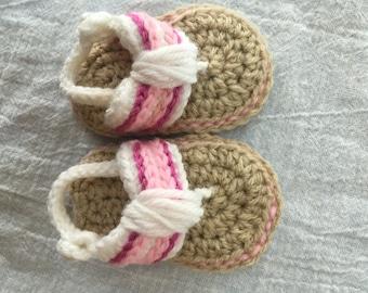 Baby Girl Crochet Sandals 0-6 months