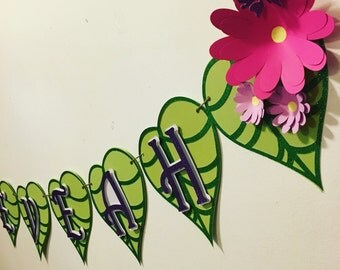 Garden fairy/ garden party name banner