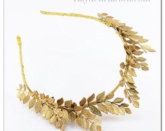 Sample Sale- 45% off- ATTIA - Bridal Crown - Gold Headpiece - tiara - grecian style- classical