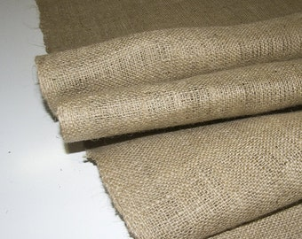 "Burlap Material, 10oz. Natural Color, Untreated, Sold By-The-Yard 36"" x 40"""