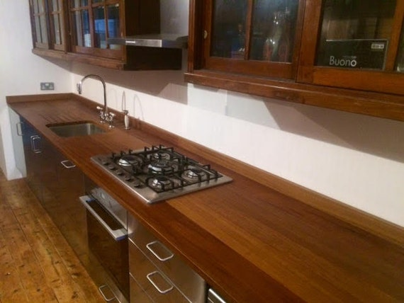 bespoke reclaimed iroko kitchen worktops ex school by re4med