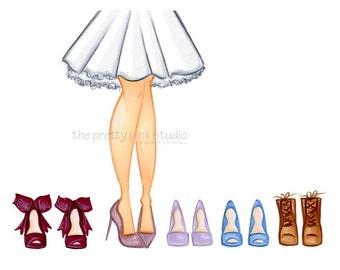 Shoe drawings, Shoe illustration, Fashion wall décor, Glam art, High heel wall art, Fashion dress drawing,Chic art prints, Glamour wall art