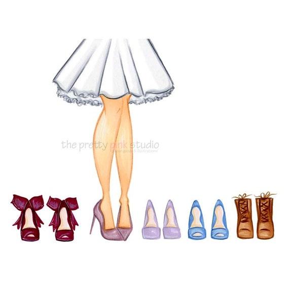 shoe drawings shoe illustration fashion sketch wall art