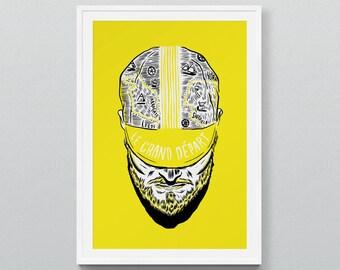 Yorkshire in Yellow - Screen print