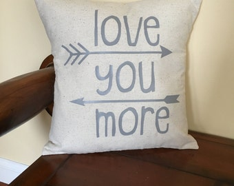 Love you more Pillow COVER love couch bedroom decor