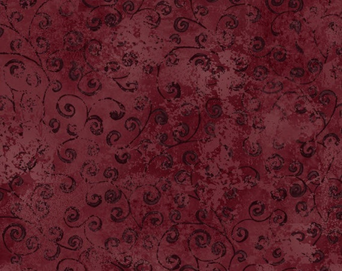Half Yard Quilting Temptations - Blender in Merlot - Cotton Quilt Fabric - Quilting Treasures - 22542-MV (W3224)