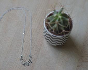 Crescant Moon necklace aztec Tribal