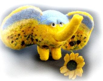 ELEPHANT OOAK - needle-felted toy -gift
