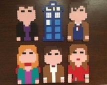 Doctor Who magnets|handmade|choose1|doctor who cake toppers|doctor who ornaments|doctor who party favors|TARDIS|Clara Oswald|Amy Pond