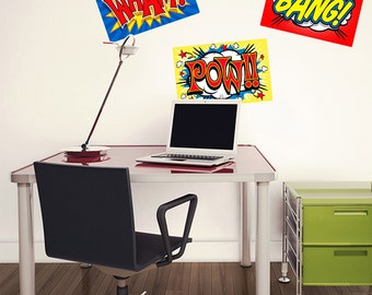 Wham Bang Pow Comic Sound Effects Wall Decals Set - #40816