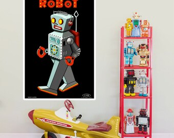 Battery Operated Robot Toy Wall Decal - #55079